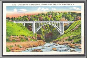 North Carolina, North Wilkesboro Ravine Bridge on Boone Trail - [NC-035]