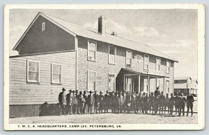 Petersburg Virginia~Camp Lee~Soldiers Outside YMCA Headquarters~c1917 WWI PC
