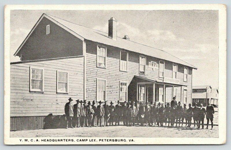 Petersburg Virginia~Camp Lee~Soldiers Outside YMCA Headquarters~c1917 WWI PC