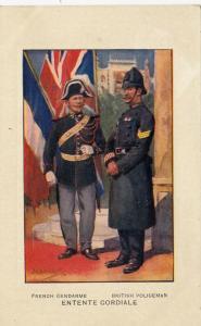 French Gendarme & British Policeman , Entente cordiale , 1910s