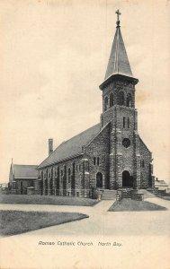 Canada Ontario North Bay Roman Catholic Church Eglise Postcard