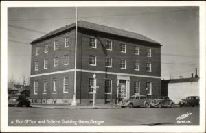 Burns OR Post Office & Federal Building Real Photo Postcard