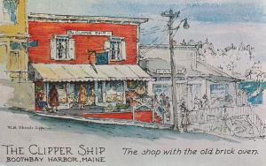 BOOTHBAY HARBOR, ME, 50-60s; The Clipper Ship, The Shop with the old brick oven
