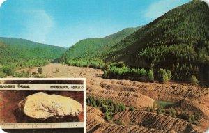 Postcard Gold Mining Gravel Windrows Idaho