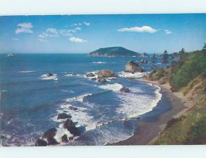 Pre-1980 SHORELINE SCENE Trinidad Head - Near Eureka & Mckinleyville CA AD5843