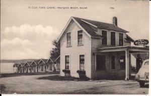 ME, Maine, Pemaquid Beach, ca. 1930, Ye Olde Forte Cabins