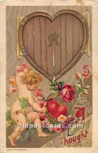 Valentines Day Post Cards Old Vintage Antique Postcards Mechanical, doors ope...