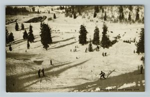 Ogden UT- Utah, Winter Sports, Aerial View, Snow, Mountains, Chrome Postcard