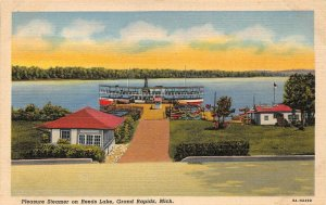 LPS35 Grand Rapids Michigan Reeds Lake Pleasure Steamer Steamship Postcard