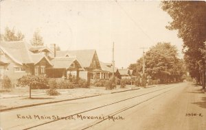 G21/ Morenci Michigan RPPC Postcard 1920 East Main Street Homes