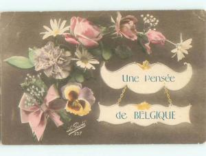 Very Old Foreign Postcard BEAUTIFUL FLOWERS SCENE AA4307