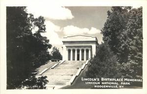 Hodgenville Kentucky~Lincoln National Park~Birthplace Memorial~1950s RPPC