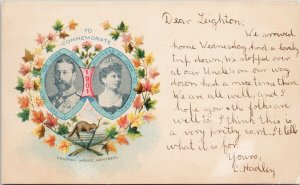 Royal Visit 1901 Montreal QC Colonial House Duke Duchess of York Postcard G6