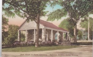 Kansas National Military Home Rest House In Cemetery Albertype Handcolor sk0152a