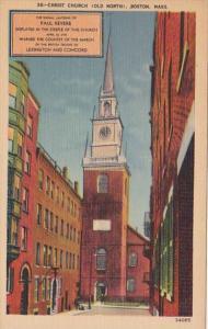 Massachusetts Boston Old North Church