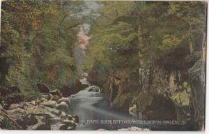 UK, Fairy Glen, Bettws-Y-Coed, North Wales, 1918 used Postcard
