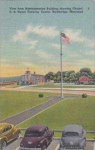 Maryland Bainbridge View From Administration Building Showing Chapel U S Nava...