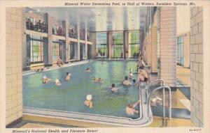 Missouri Excelsior Springs Mineral Water Swimming Pool In Hall Of Waters Curt...