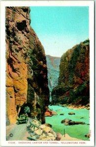 Yellowstone National Park Postcard 17236. Shoshone Canyon and Tunnel Haynes
