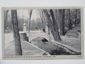 Glen Miller Park in Richmond INDIANA Vintage Postcard