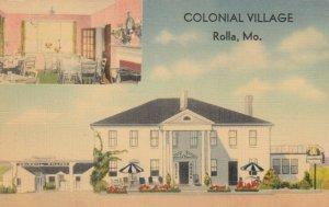 ROLLA , Missouri, 1930-40s ; Colonial Village