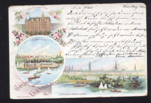 1900 GRUSS AUS HAMBURG GERMANY ANTIQUE VINTAGE POSTCARD
