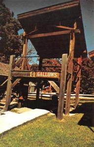 FORT SMITH, AR Arkansas  HANGING GALLOWS Replica 13 Steps & Rope Chrome Postcard