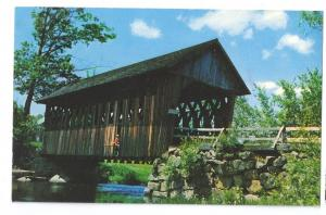 Covered Bridge Postcard New Hampshire Black River NH