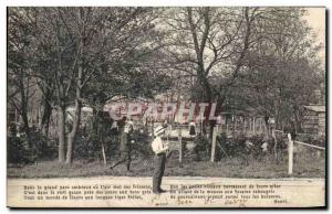 Postcard Old Tennis Children