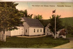 1930's Unused CHEESE FACTORY in Plymouth Vermont VT postcard v0733