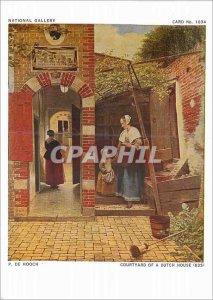 Postcard Modern National Gallery P Hooch Courtyard of a Dutch House