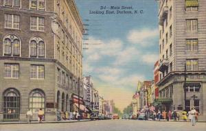 Main Street Looking East Durham North Carolina 1955