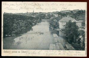 h2238 - CZECHIA Tabor Postcard 1909 Birds Eye View