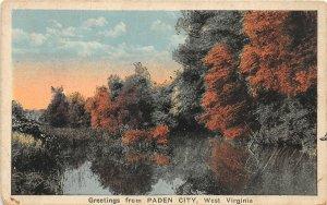 F54/ Paden City West Virginia Postcard c1910 Greetings from Paden City