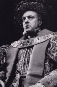 Donald Sinden Henry VIII Royal Shakespeare Company Theatre Postcard