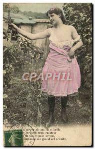 Postcard Old Woman Nude Erotic