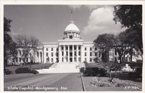 Alabama Montgomery State Capitol Building Real Photo