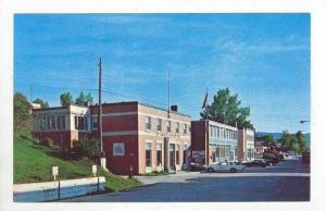 Streetside view, Main Street, Gaspe, Quebec, Canada, 1940-1960