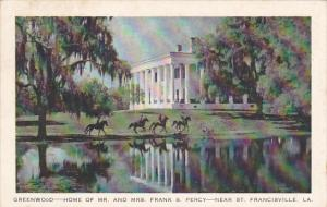 Greenwood Home Of Mr and Mrs Frank S Percy Near St Francisville Louisiana 1948