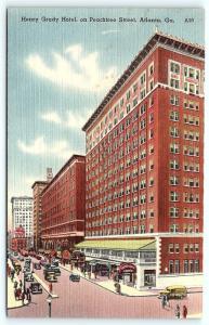 Postcard GA Atlanta Henry Grady Hotel Vintage Linen R19