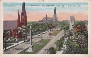 Wisconsin Avenue West From Ninth Street Milwaukee Wisconsin