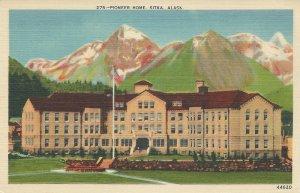 Pioneer Home, Sitka, Alaska, Early Linen Postcard, Unused