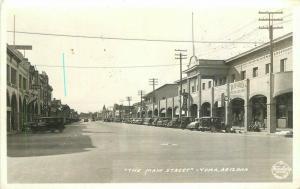 Autos 1940s Frasher Main Street Yuma Arizona RPPC Photo Postcard 3474