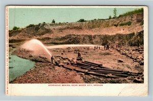 Baker City OR-Oregon, Hydraulic Mining, Vintage Postcard