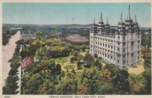 SALT LAKE CITY, Utah, 1919; Mormon Temple Grounds, Temple Block
