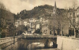 cpa France amelie bains vallee mondony hotels jeanne arc saint jean bridge river