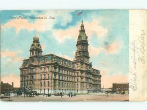 Pre-1907 COURT HOUSE Indianapolis Indiana IN n6134
