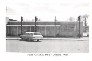 Laverne OK 1962 Chevy Impala Station Wagon @ First National Bank~B&W Postcard