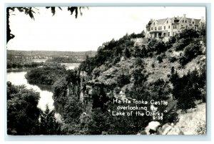 c1940's Ha Ha Tonka Castle Lake of Ozarks RPPC Photo Vintage Postcard