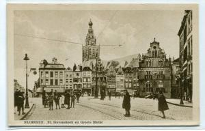Groote Markt St Stevenskerk Nijmegen Netherlands 1910c postcard